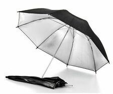 "33"" 83cm Black Silver Reflector Soft Diffuser Umbrella For Studio Flash Camera"