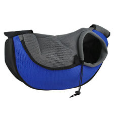 New Pet Dog Cat Puppy Carrier Mesh Travel Tote Shoulder Bag Sling Backpack Blue
