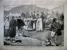 TUNISIE EXPEDITION OUED MELIDA KROUMIRS SOUMISSION TELEGRAPHIE GRAVURES 1881