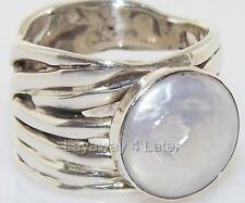 RARE Silpada R1542 Mermaid Ring Coin Pearl .925 Sterling Silver size 10 Ring RET