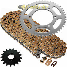 Gold O-Ring Drive Chain & Sprockets Kit Fits YAMAHA R1 YZF-R1 2009-2014