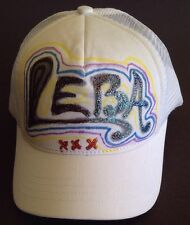 Glittered Graphic Snapback Trucker Mesh Hat Cap Initials LEBA ONE SIZE FITS ALL