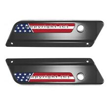 2 Saddlebag Latch Reflector Insert Decals for 93-13 Harley - USA AMERICAN FLAG