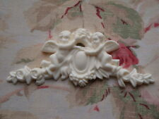 New! Shabby Chic Cherubs & Roses Center Furniture Applique Architectural Trim