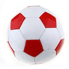 Students Kids Football Soccer PU Lined Match Training Ball Size 3 White + Red