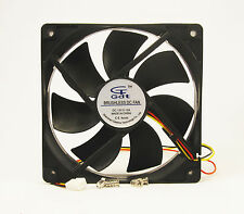 120mm 25mm New Case Fan 12V 78CFM PC CPU Computer Cooling Sleeve Brg 3 pin 375*
