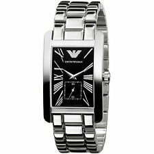 Emporio Armani Silver / Black Quartz Analog Women's Watch AR0156