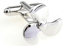 Propeller Boat Cufflinks Captain Ship Wedding Fancy Gift Box Propellor Free Ship