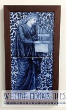 William Morris Framed 2 Tile Panel Organ Hand Made Kiln Fired Ceramic Tiles