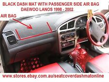 DASH MAT, BLACK DASHMAT FIT  DAEWOO LANOS 1998-2002, WITH AIR BAG, BLACK