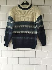 VINTAGE RETRO FISHERMAN 90'S GRANNY KNIT OVERSIZED COSBY JUMPER SMALL #137