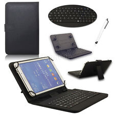 For 7'' 7.9'' 8'' Andriod Tablet Black Micro USB Keyboard PU Leather Case Cover