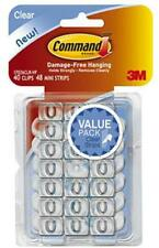 3M Command 40pk Clear, Decorating Clip Value Pack 17026CLR-VP
