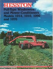 Farm Equipment Brochure - Hesston - 1010 1014 et al Windrower MoCo 1977 (F1984)