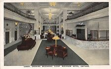 Illinois postcard Chicago, Morrison Hotel, Lobby showing Mezzanine Floor