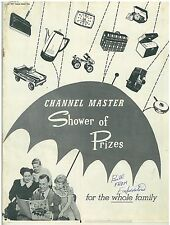 1957 Channel master Premium Prize Catalog pedal cars, toys, cameras, +++
