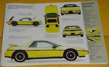 84 85 1986 1987 1988 Pontiac Fiero Formula V6 173 ci IMP Info/Specs/photo 23 x 8