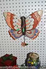 Michelle Allen Designs Whimsical BUTTERFLY Clock  ships PRIORITY MAIL in 24 hrs