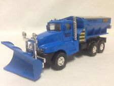 "Snow Plow Salt Truck 6"" Diecast  Metal With Swivel Plow Toy Boys & Girls, Blue"