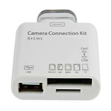 5 in 1 Camera Connection Kit USB TF SD Card Reader for iPad 2 3 30 Pin Connector