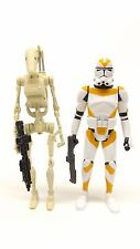 Star Wars Mission Series MS04 Battle Droid & 212th Clone Trooper Loose Complete