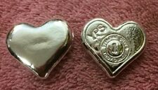 "5 x 1oz Hand Poured 999 Silver Bullion Bar ""Heart"" by YPS"