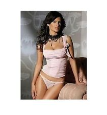 Sexy Ann Summers Pink Crystal Couture Bustier Corset boned Top size 10-12