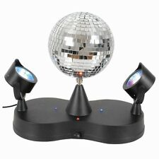 Mini Disco Rotate Mirror Ball + 2 LED Party Spot Lights