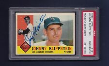 Johnny Klippstein signed Los Angeles Dodgers 1960 Topps card Psa authenticated