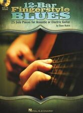12-Bar Fingerstyle Blues Learn Piedmont Solos TAB GUITAR Music Book & CD