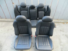 MERCEDES C32 C230 C240 C320 FRONT RIGHT LEFT REAR AMG SEAT SEATS SET BLACK OEM