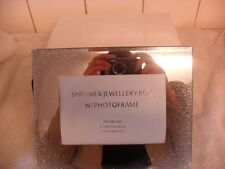 Stunning Shimmer Glitter Jewellery Box/Velvet Lined/Photoframe Christmas Present