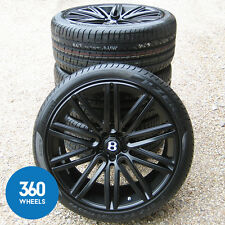 "NEW GENUINE BENTLEY CONTINENTAL 21"" GT SPEED 10 SPOKE BLACK ALLOY WHEELS TYRE"
