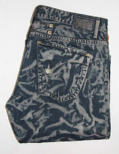 New Men ROBIN'S JEAN sz 44 LONG FLAP Straight Leg - Blue Camo -100% Authentic