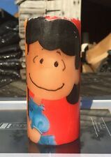 DISCOUNTED Fr£3.50-£2.95!LUCY(PEANUTS/SNOOPY)Pillar Candle Design Hand Decorated