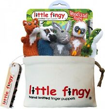 Woodland Fingy's - Hand Knitted Finger Puppets With Canvas Storage Bag
