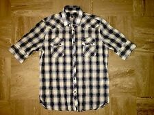 "Mens Voi Western check Shirt Medium m Pit to Pit 21"" Pearl Snap"