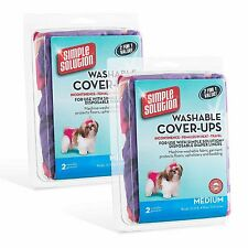 Simple Solution Washable Diaper Cover Ups 4 Pack Medium Pink Purple Dog Pet NEW