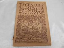 Antique August 1889 THE CENTURY ILLUSTRATED MONTHLY MAGAZINE Old Vtg Advertising