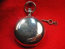 ELGIN 18 SIZE COIN SILVER KEY WIND GM WHEELER HUNTING CASE WATCH--RUNNING!! #357