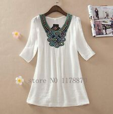 Gorgeous Asos Style white embellished neck mini Dress tuic top In plus 2xl 16
