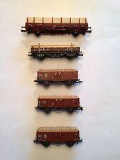 Roco, 5 Güterwagen, mit Holz beladen, ansehen, Schnäppchen !!!