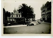 PHOTO ORIGINAL VINTAGE-G.P. AUTOMOBILE DE MONACO 1932-BUGATTI T51 N°22 GROVER