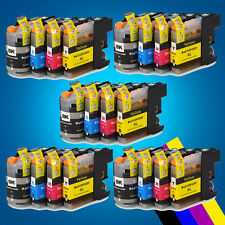 20 Chipped Ink Cartridge for Brother LC123 MFC-J650DW DCP-J752DW DCP-J4110DW 2