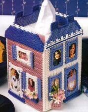 PICTURESQUE HOUSE TISSUE BOX COVER PHOTO PLASTIC CANVAS PATTERN INSTRUCTIONS