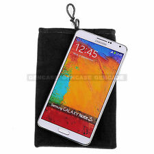 """Durable Black 5"""" Cloth Bag Pouch Case For Glasses, Phone, Jewelries (Pack-of-5)"""