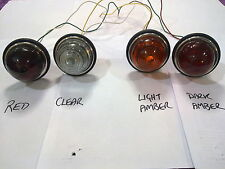 594 dome GLASS light amber red clear indicator stop Austin morris 7 8 10 vintage