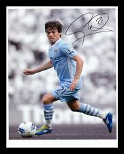 DAVID SILVA - MANCHESTER CITY AUTOGRAPHED SIGNED & FRAMED PP POSTER PHOTO