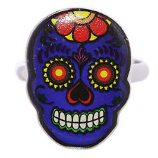 Egg n Chips London - Funky Candy Skulls Day of the Dead Mood Rings