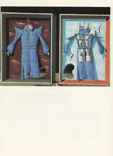 "1976 Vintage SALVADOR DALI ""NIGHT and DAY CLOTHES"" COLOR Art Print Lithograph"
